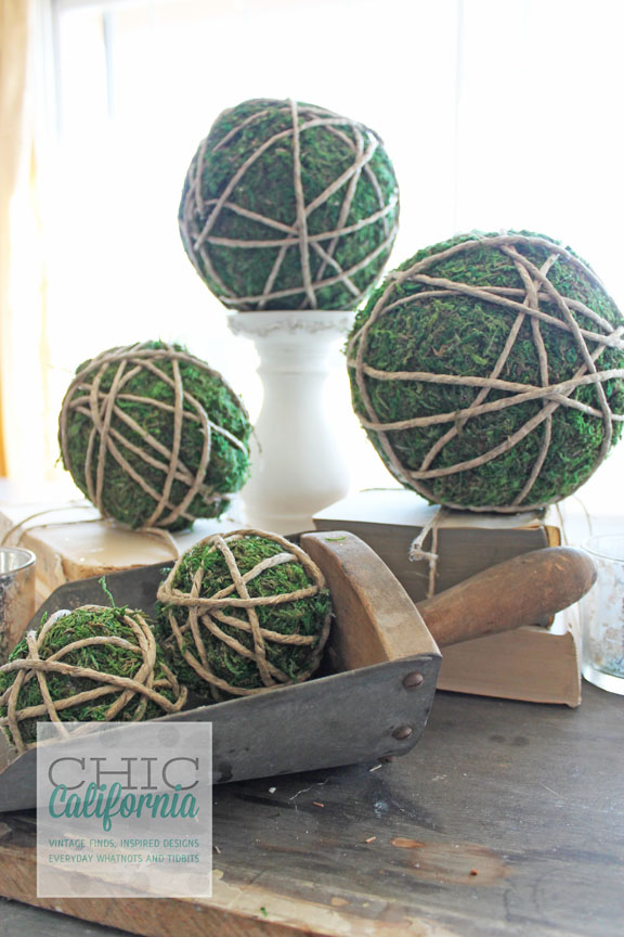 Moss Covered Garden Balls
