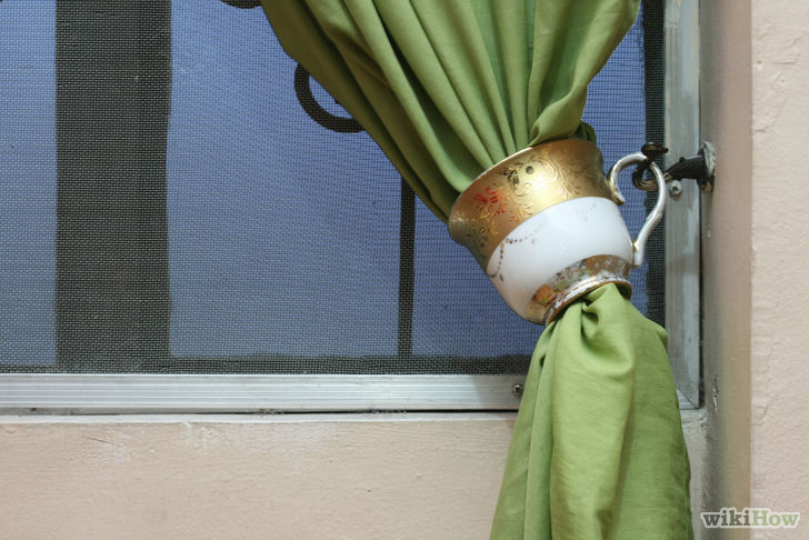 Use Teacups As Curtain Tiebacks