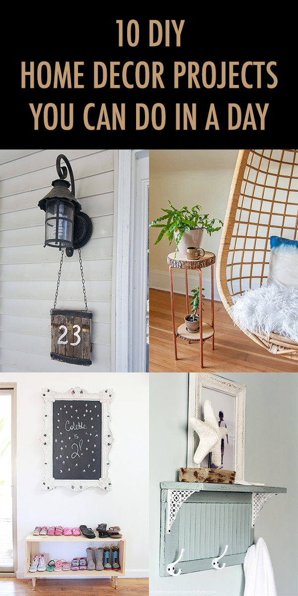 10 DIY Home Decor Projects You Can Do In A Day