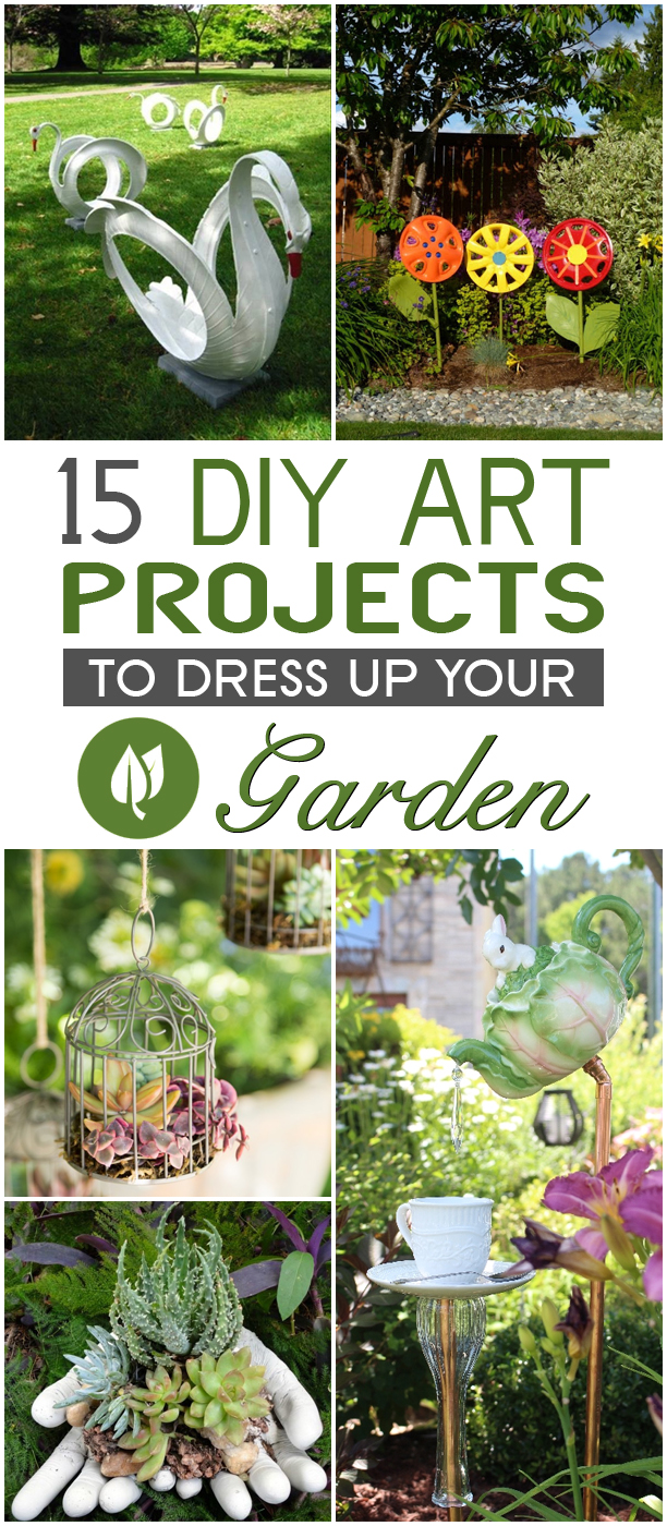 15 Amazing DIY Art Projects To Dress Up Your Garden #gardening