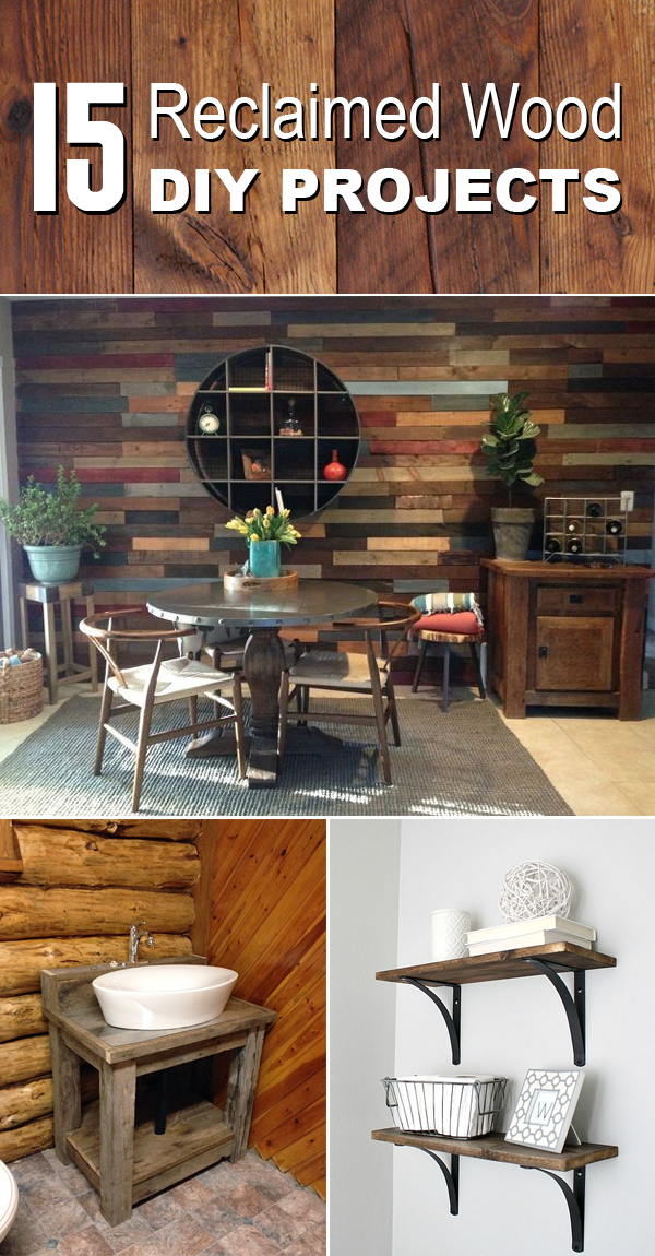 15 Spectacular DIY Projects Using Reclaimed Wood #Woodworking