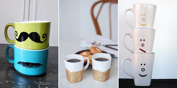 12 cool ways to decorate mugs. Black Bedroom Furniture Sets. Home Design Ideas
