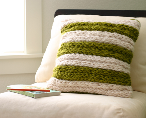 Finger Knit Pillow