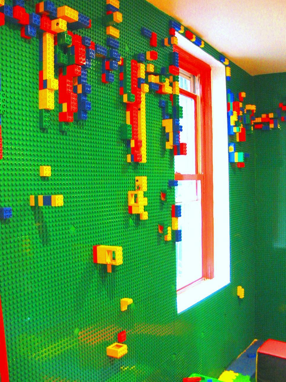 Install a LEGO wall