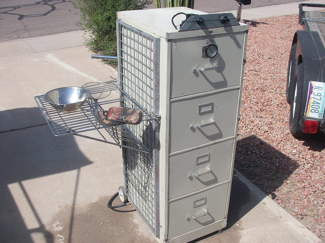 Make a Smoker from an old office filing cabinet