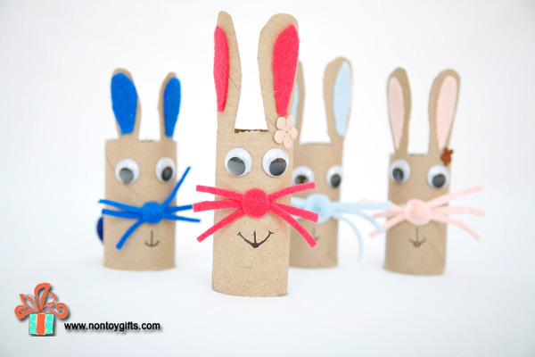 10 cheap easy diy easter decorations 1 paper roll bunnies negle Gallery