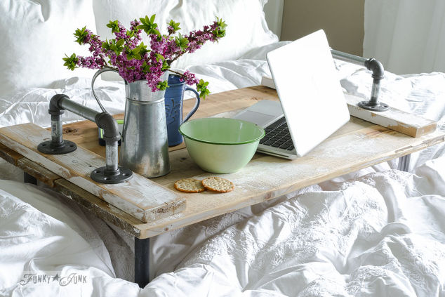 Reclaimed Wood Bed Tray