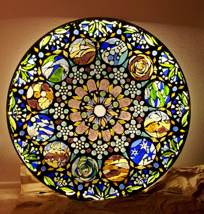 Stained Glass Mosaic Wall Light