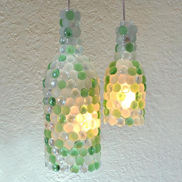 Wine Bottle Pendant Lamps