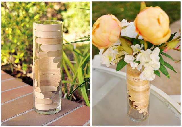 popsicle stick helix vase