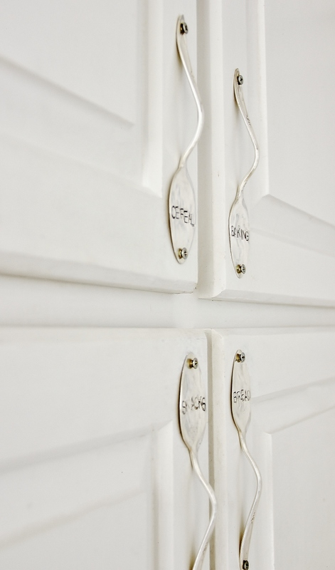 stamped spoon door handles
