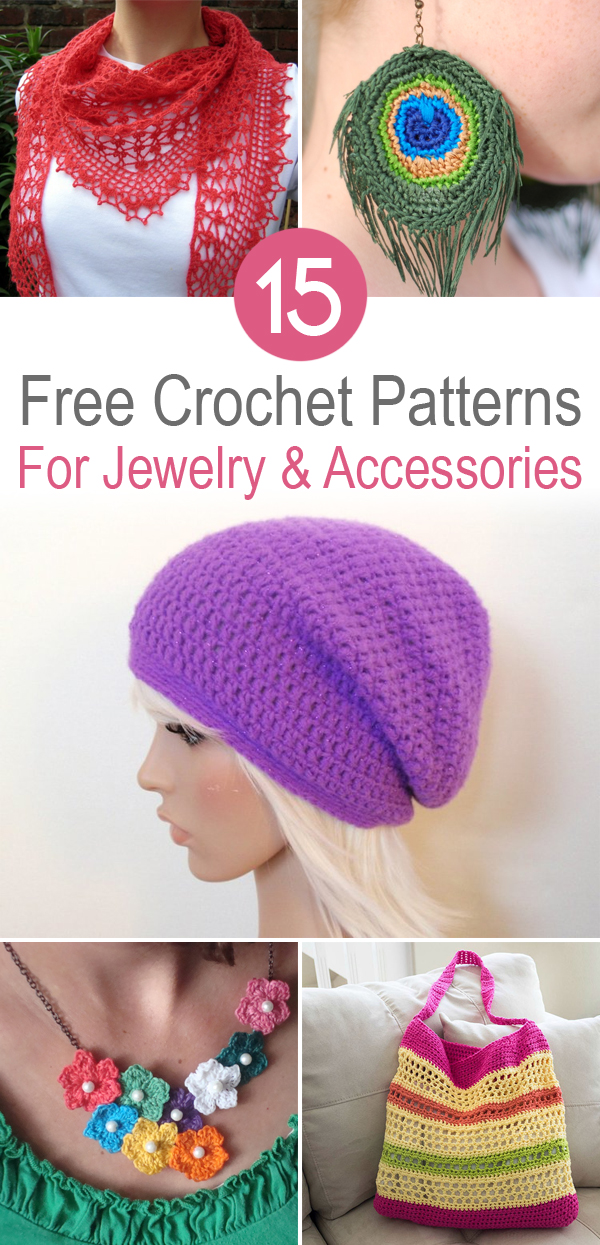 15 Free Crochet Patterns For Jewelry And Accessories