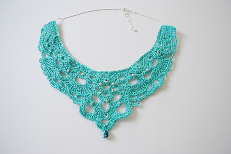 Crochet Chandelier Necklace