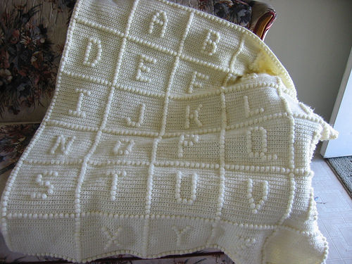 ABC crochet blanket