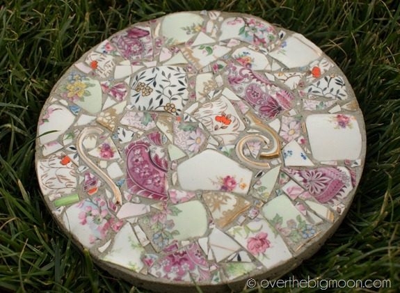 Broken China Mosaic Stepping Stone