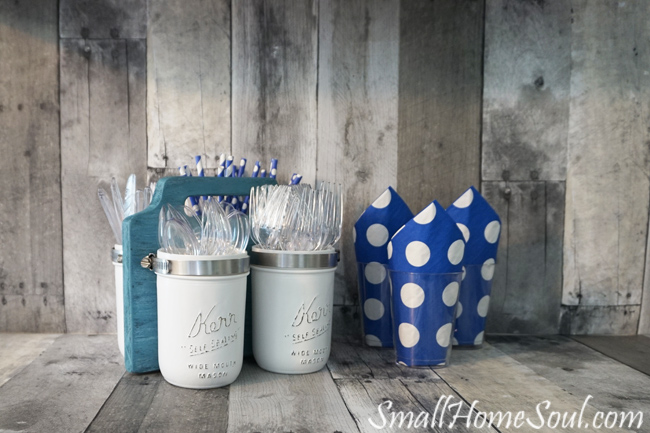 Mason Jar Utensil Caddy