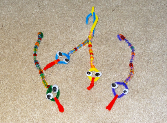 Simple Beaded Snakes