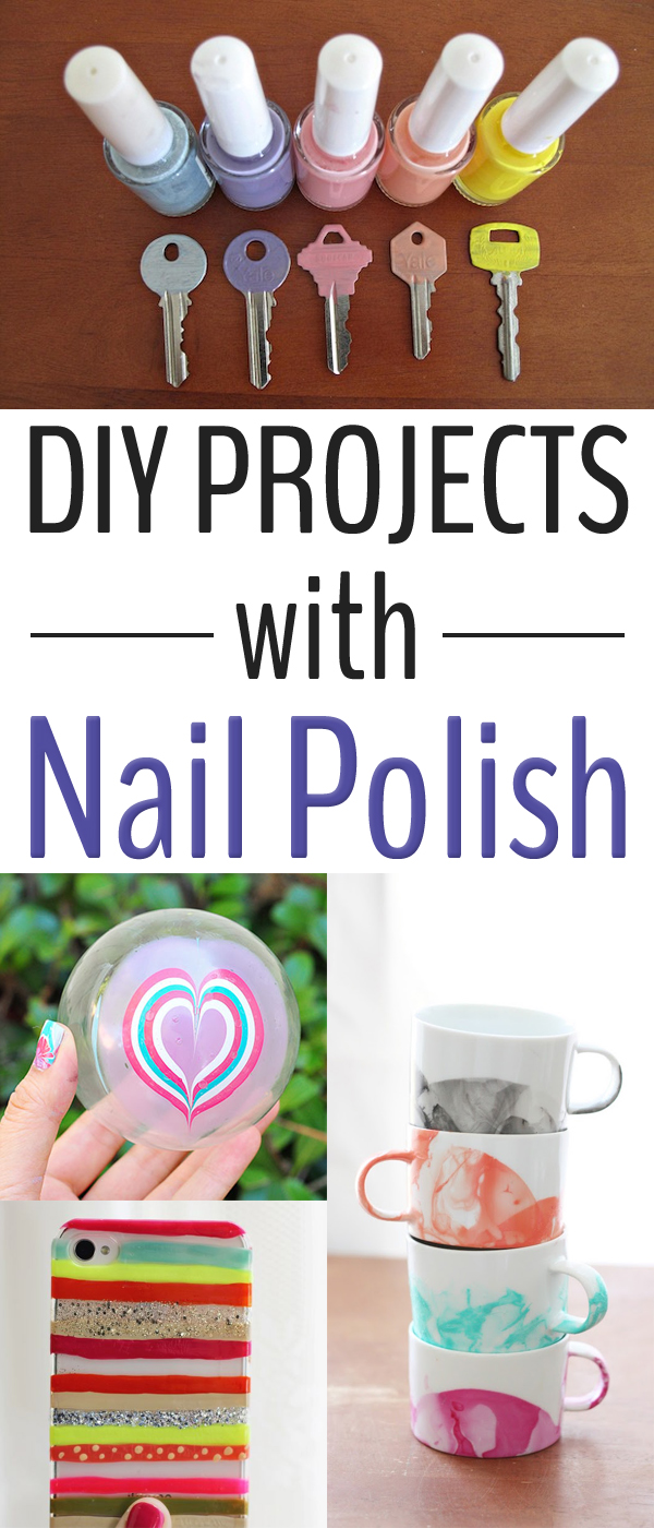 15 Creative DIY Projects with Nail Polish