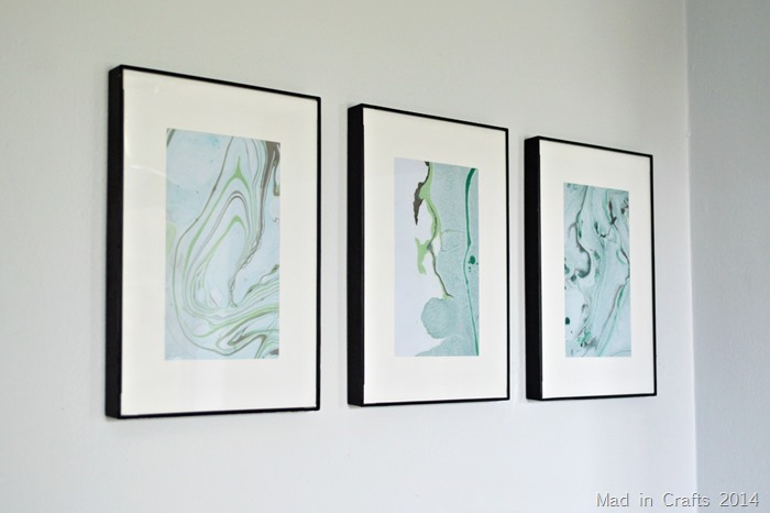 Marbled Paper Art using Nail Polish