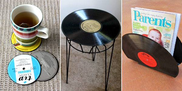 Craft Ideas For Old Vinyl Records