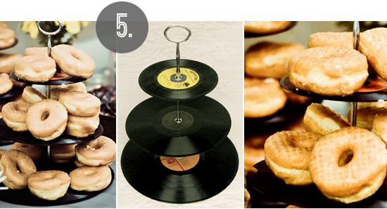 Vinyl Record Cake Stand