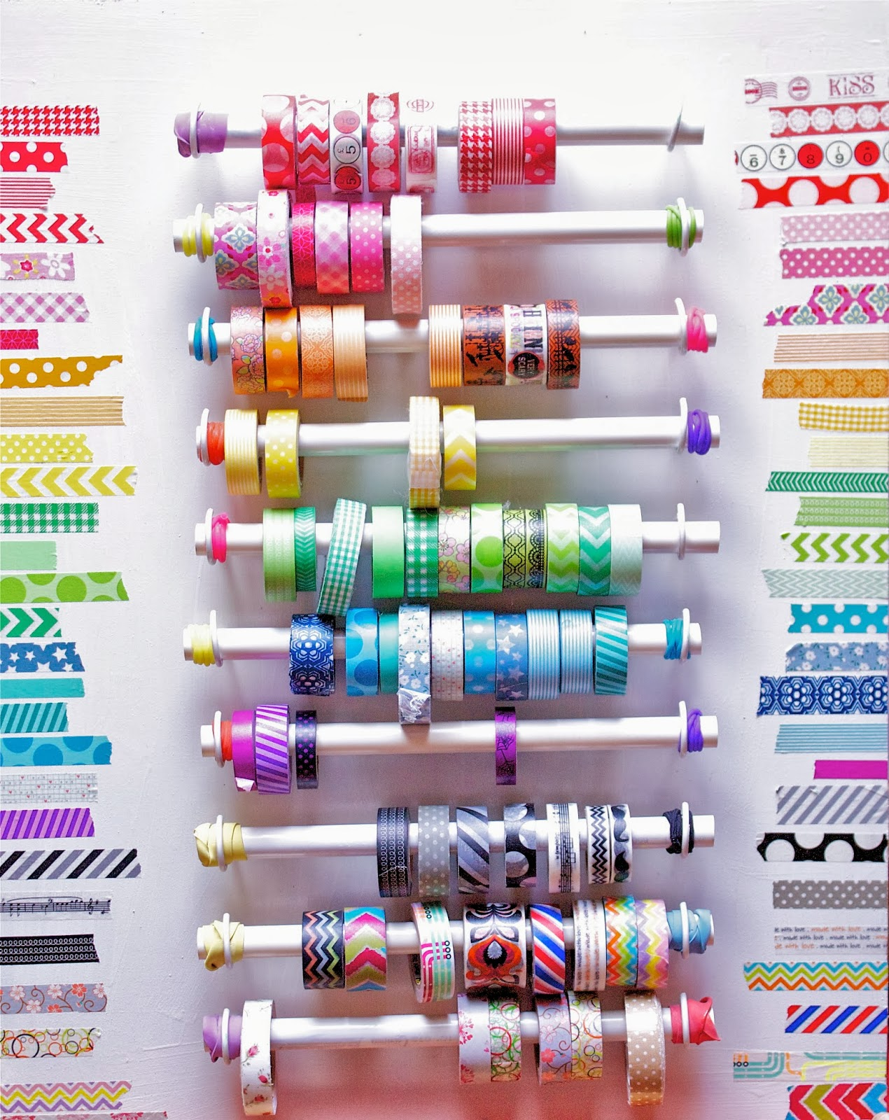 PVC Pipe Washi Tape Organizer