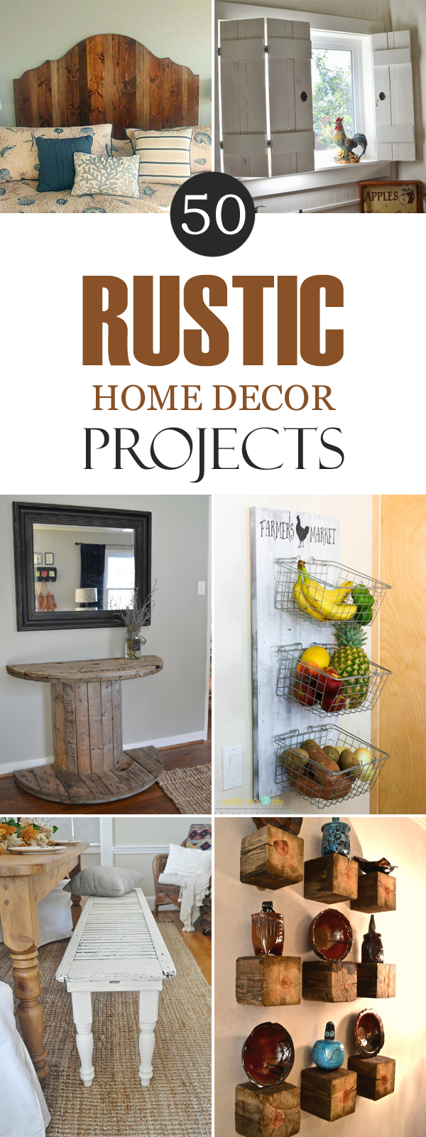 50 rustic diy home decor projects for Diy crafts with things around the house