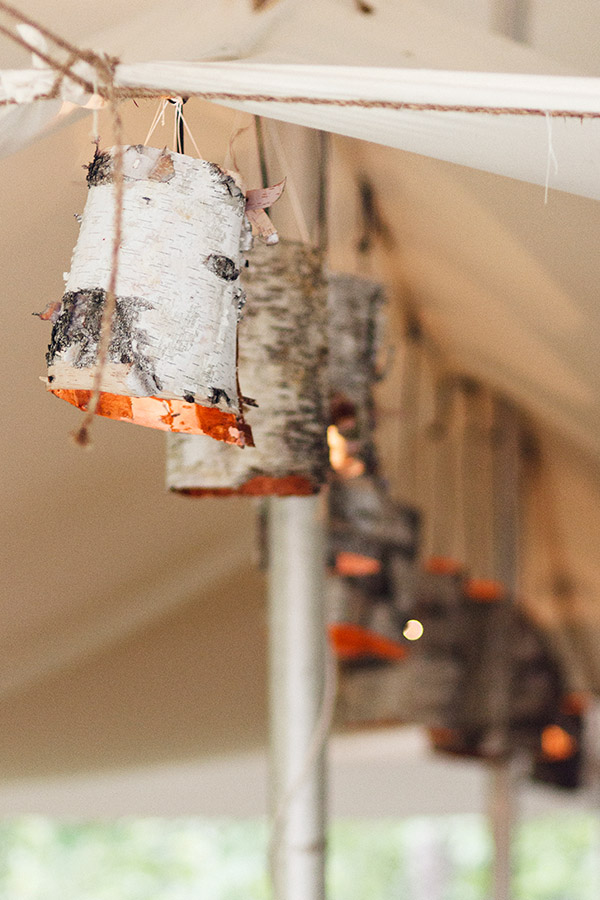 Birch Bark Lamps