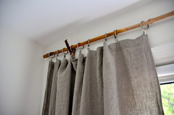 Rustic Branch Curtain Rods