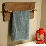 Rustic DIY Bathroom Towel Holder