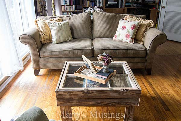 Rustic Old Window Coffee Table