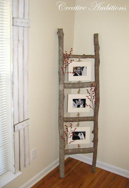 Rustic Photo Ladder