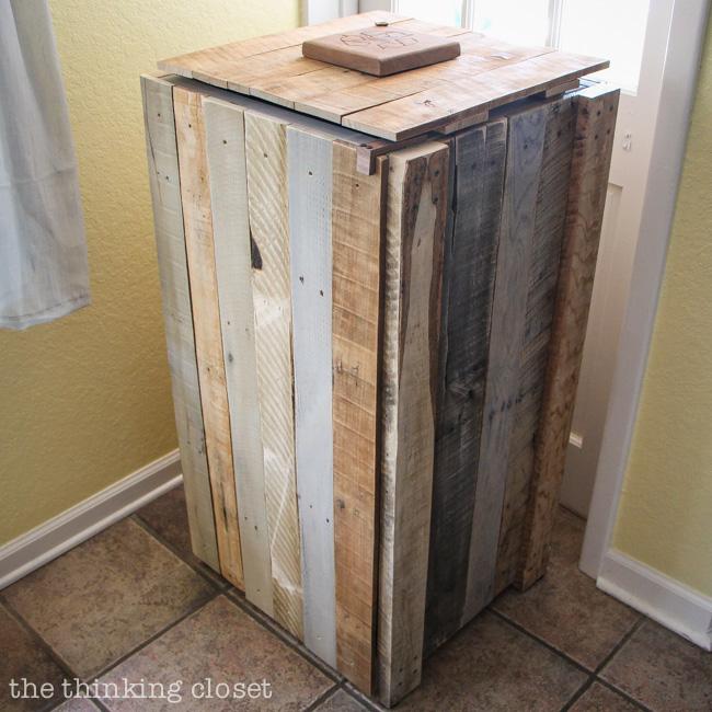 Rustic Recycle Bin