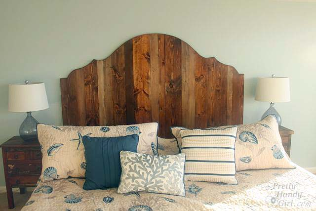 Rustic Wood King Headboard