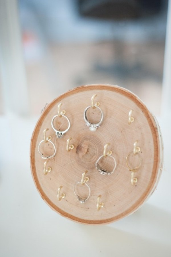 Wooden Tree Ring Holder