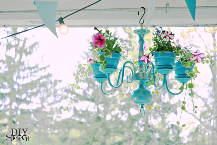 Turn a Chandelier Into a Planter