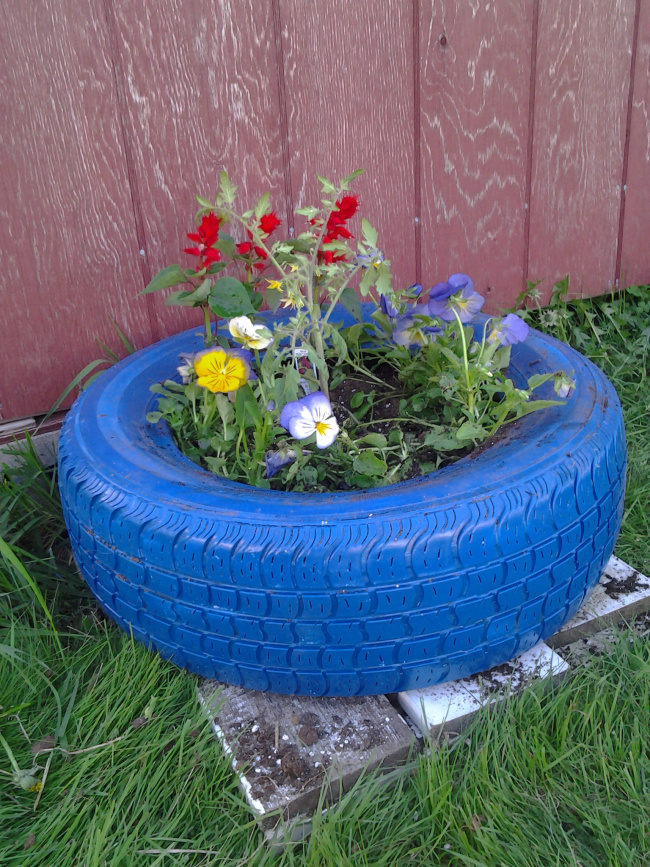 Car Tire Planter