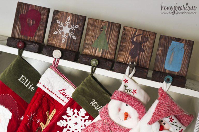 Wooden Christmas Stocking Hangers