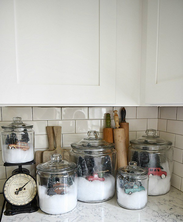 snow globe jars