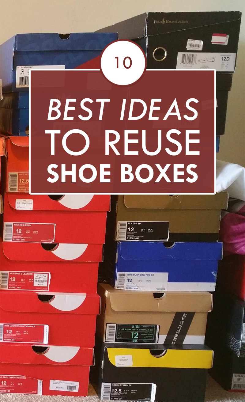 10 best ideas to reuse shoe boxes for Cool things to make out of a shoe box