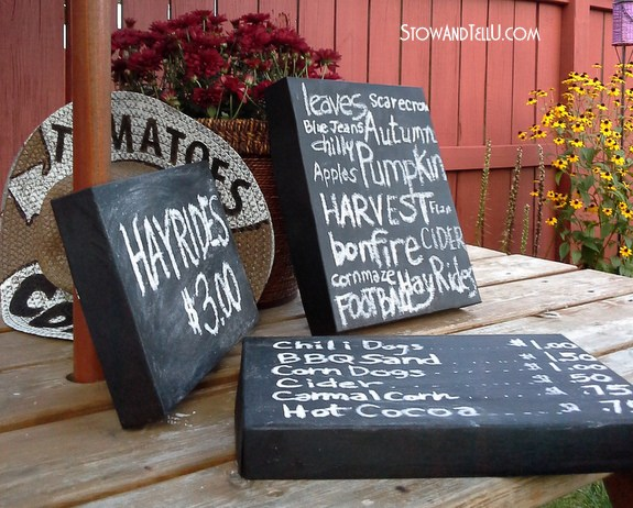 Chalkboard Painted Box Lids