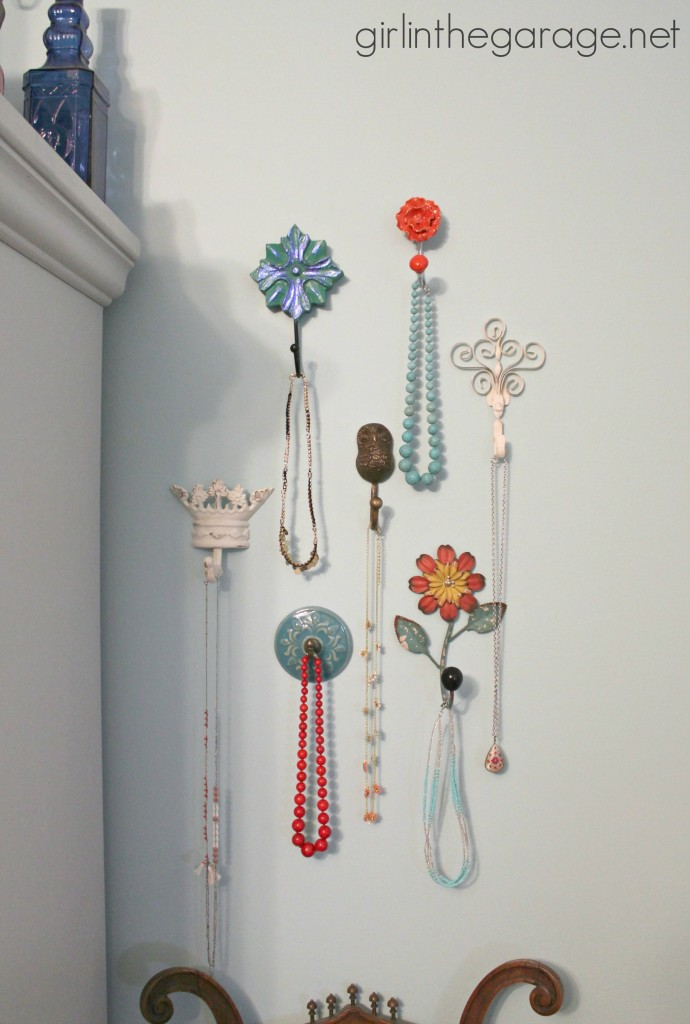 Decorative Wall Hooks as Jewelry Storage