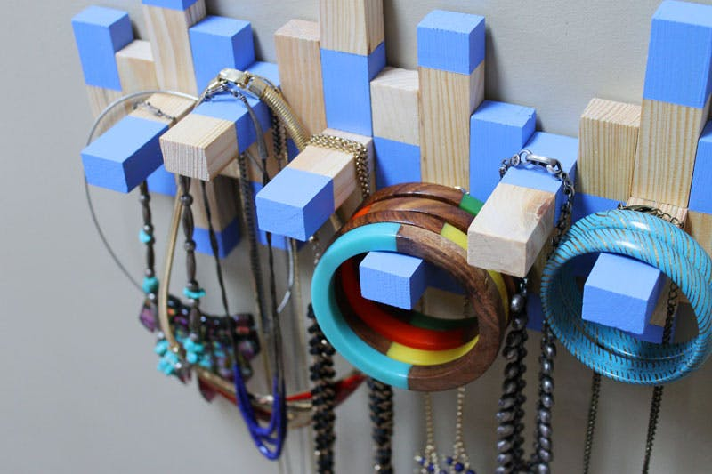 Jenga Necklace Rack