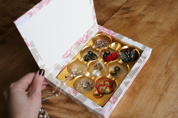 Turn a Chocolate Box into a Jewelry Box