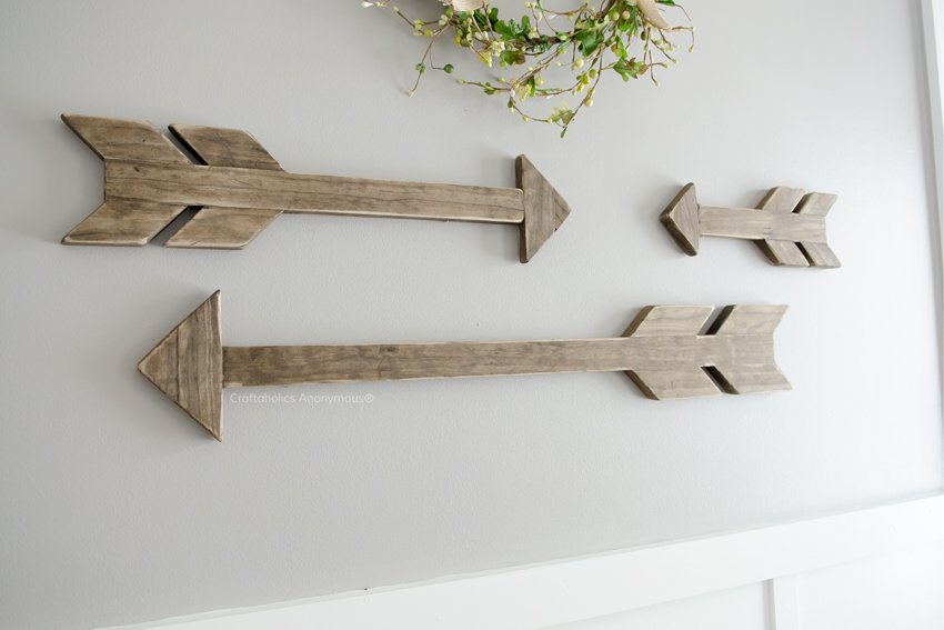 Wood arrow wall art