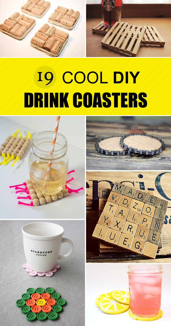 19 Cool DIY Drink Coasters