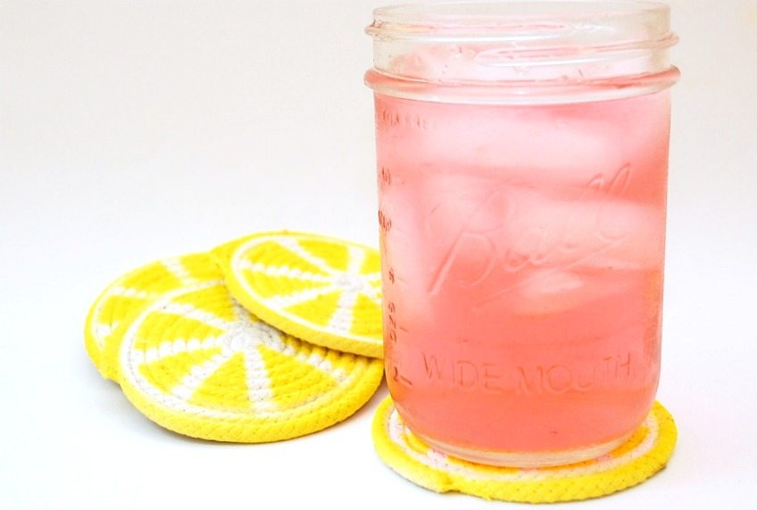 Lemon Slice Coasters