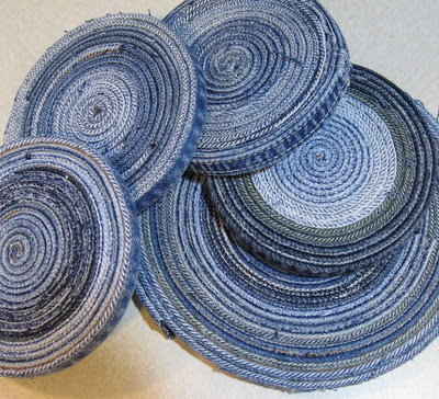 Rolled-Jean Coasters