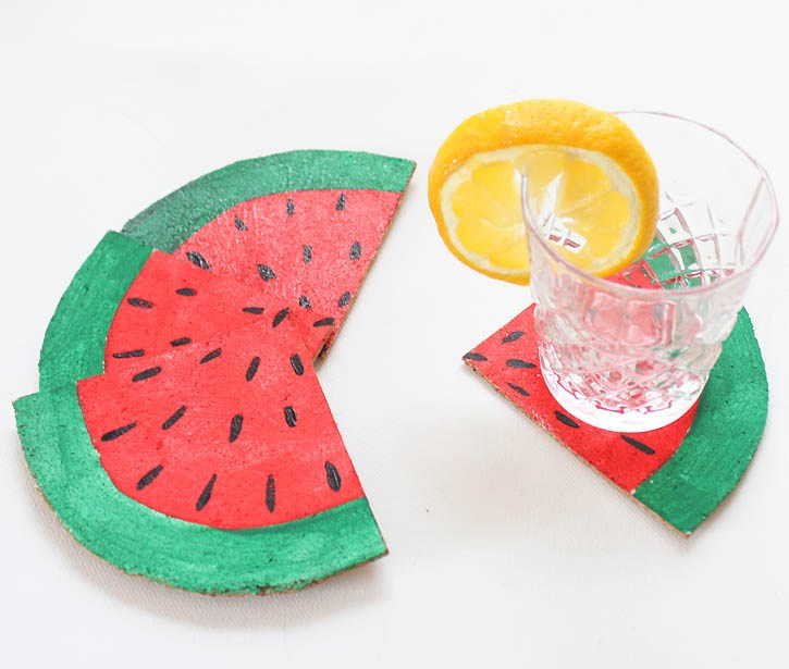 Sliced Watermelon Coasters