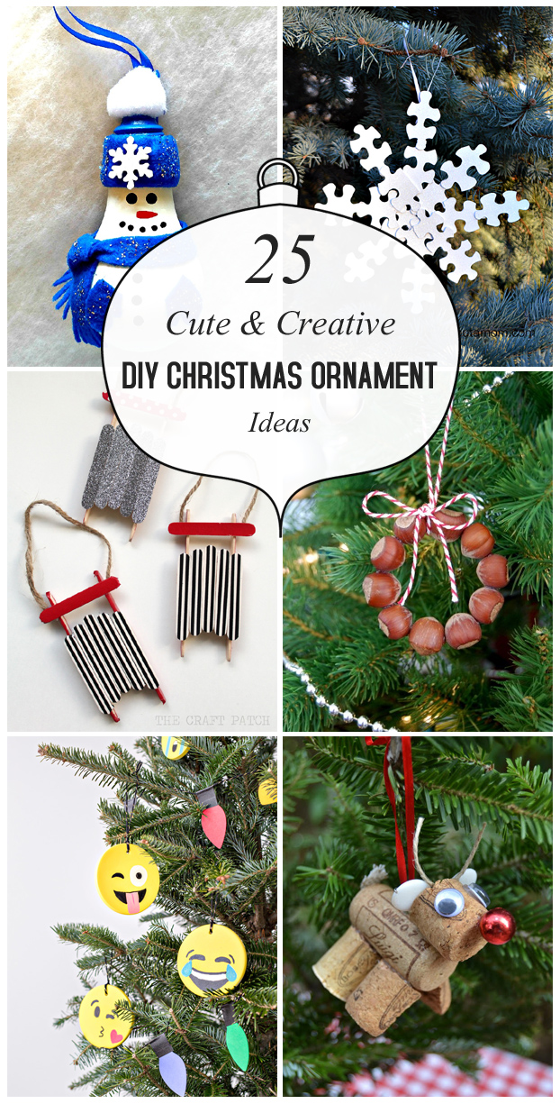 25 Cute And Creative DIY Christmas Ornament Ideas